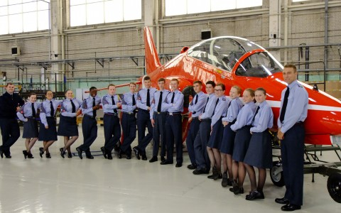 Air Cadets in front of Aircraft